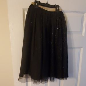 BLACK AND GOLD SKIRT